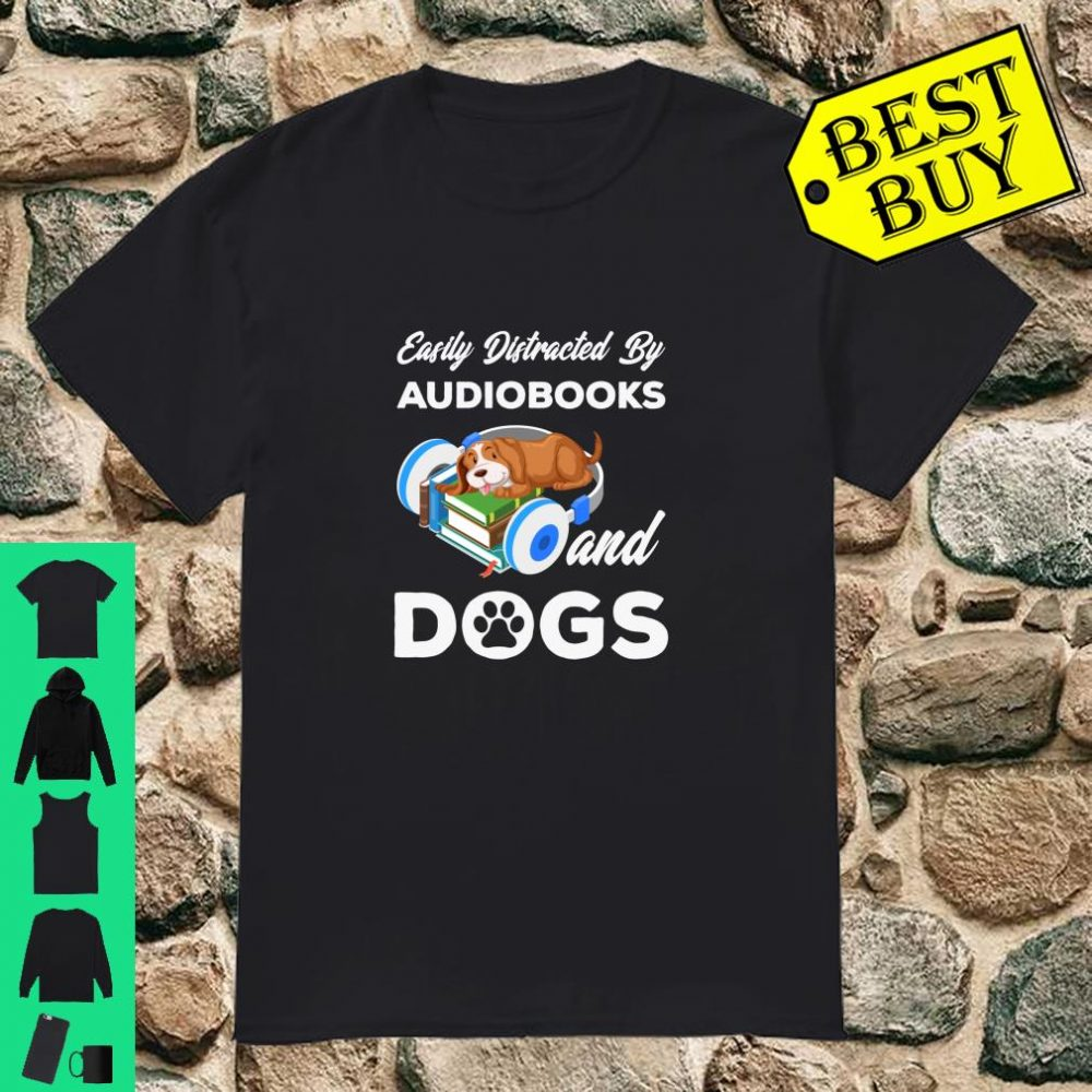 Funny Bookworm Audiobook Dog Owner Shirt