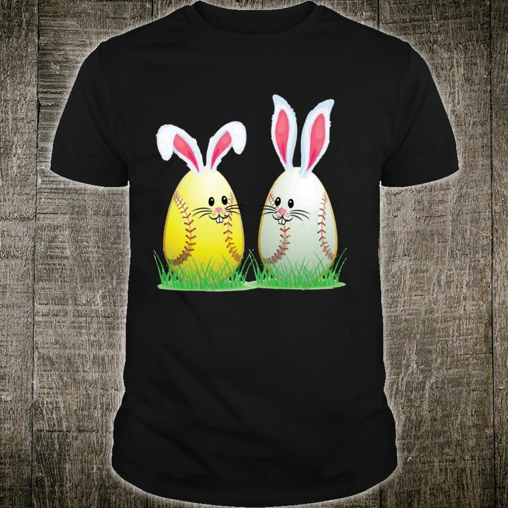 Funny Bunny Easter Baseball Softball Shirt