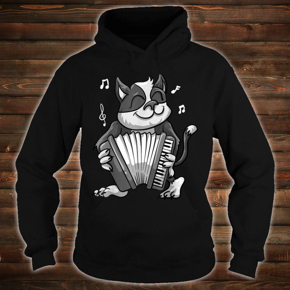Funny Cat Playing Accordion Cool Musician Harmonium Shirt hoodie