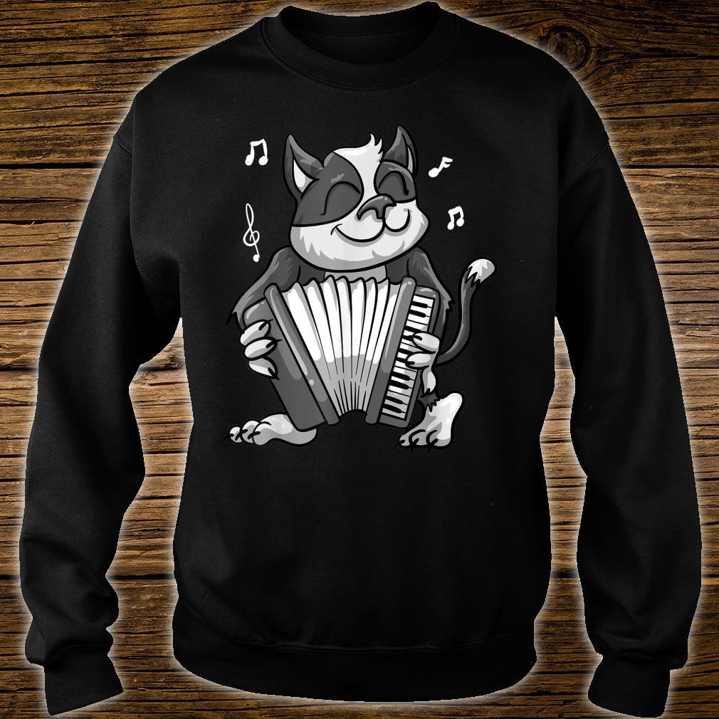 Funny Cat Playing Accordion Cool Musician Harmonium Shirt sweater
