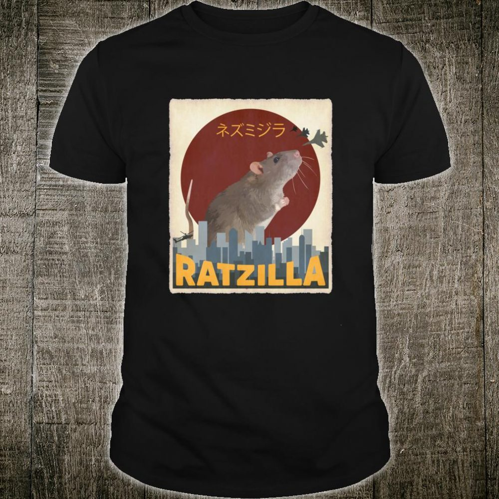 Funny Cute Ratzilla Rat Mouse Japanese Anime Shirt