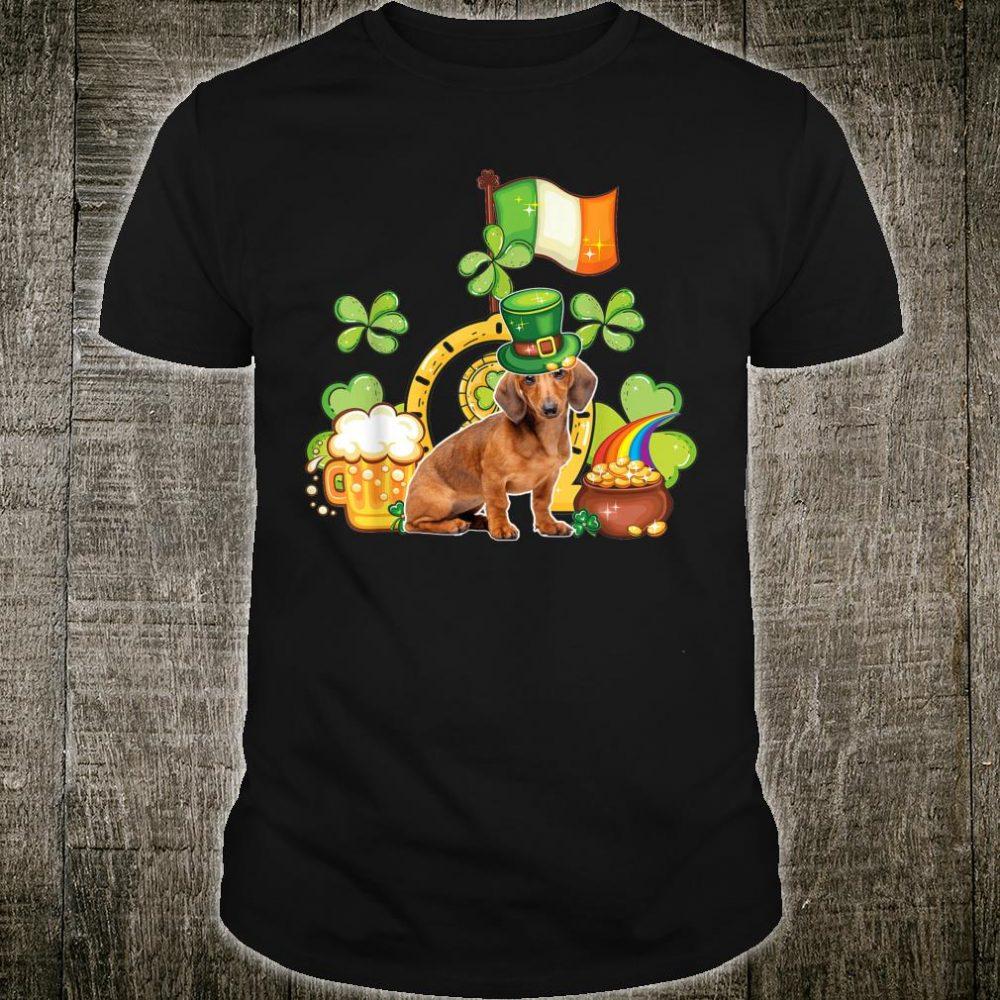 Funny Dachshund St Patricks Day Leprechaun Shamrock Girl Shirt