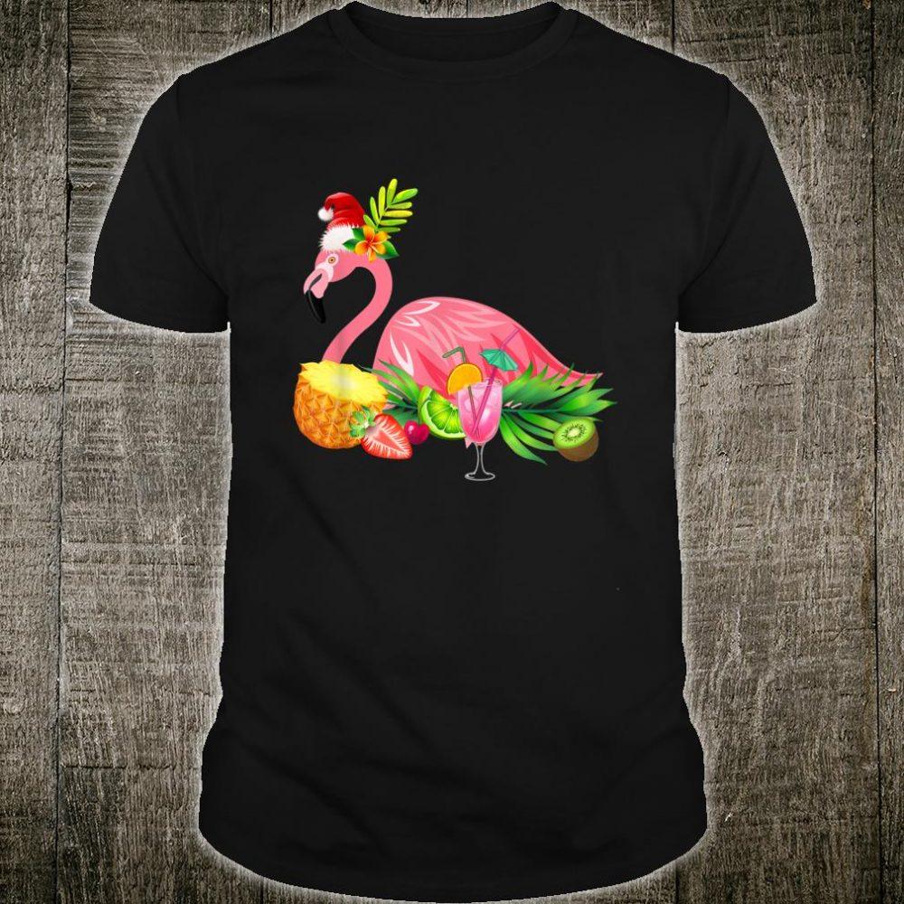 Funny Flamingo Tropical Christmas Hawaii Shirt