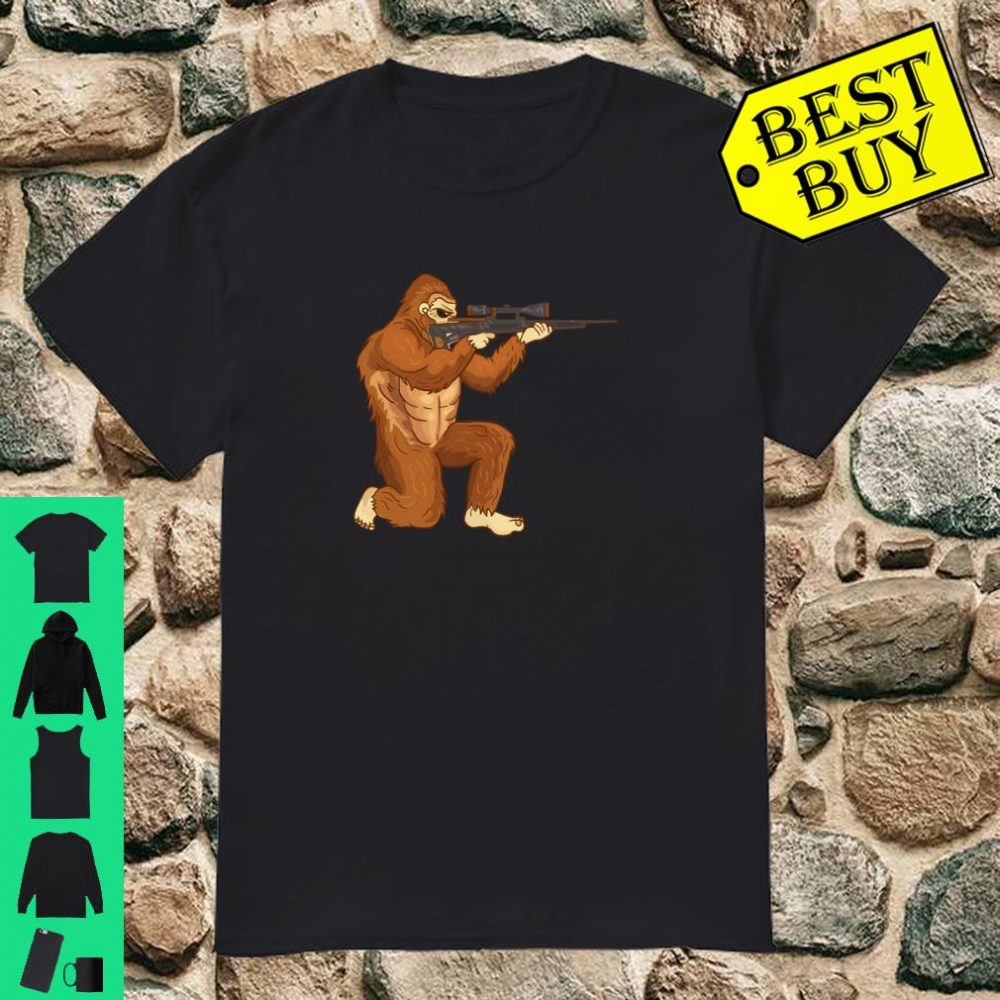 Funny Hunting Bigfoot Sasquatch Shirt