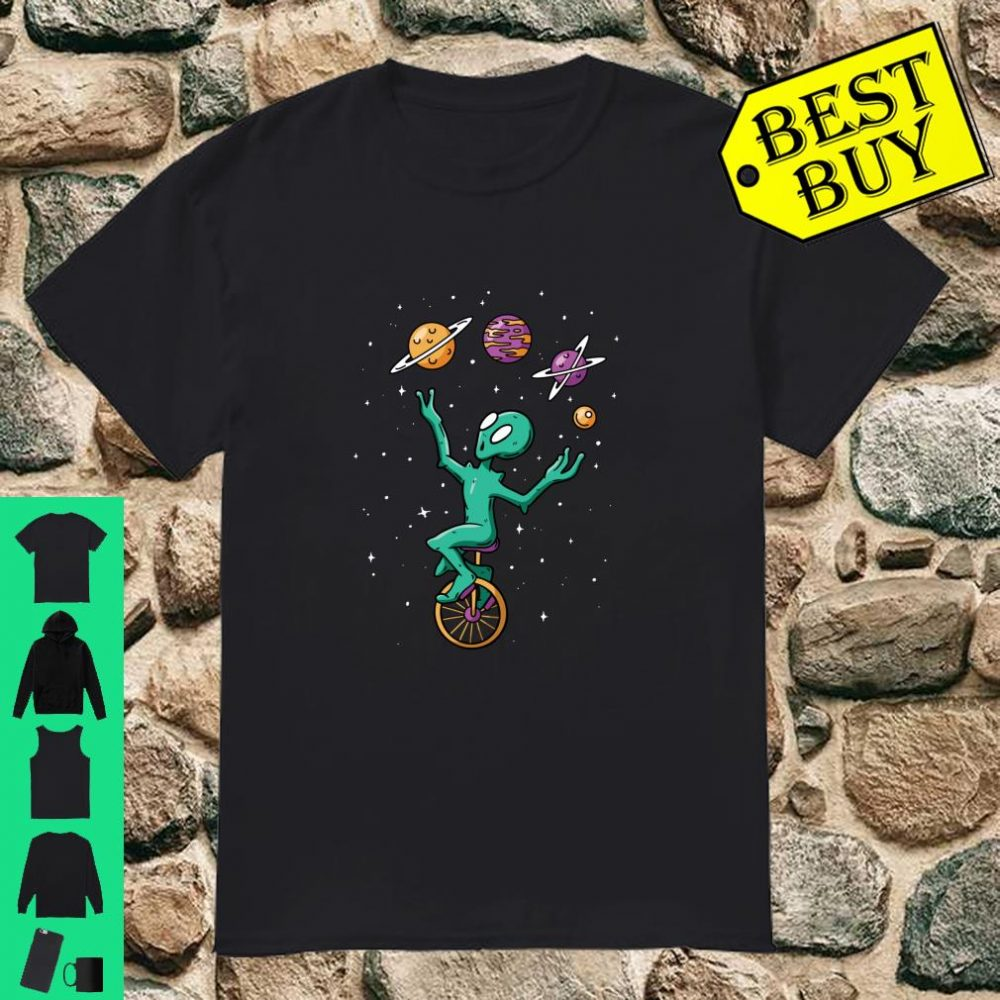 Funny Juggling Planets Space Alien Aliens Believer Shirt