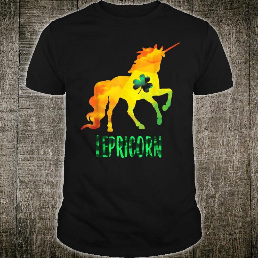 Funny Lepricorn Leprechaun Unicorn St Patricks Day Shirt