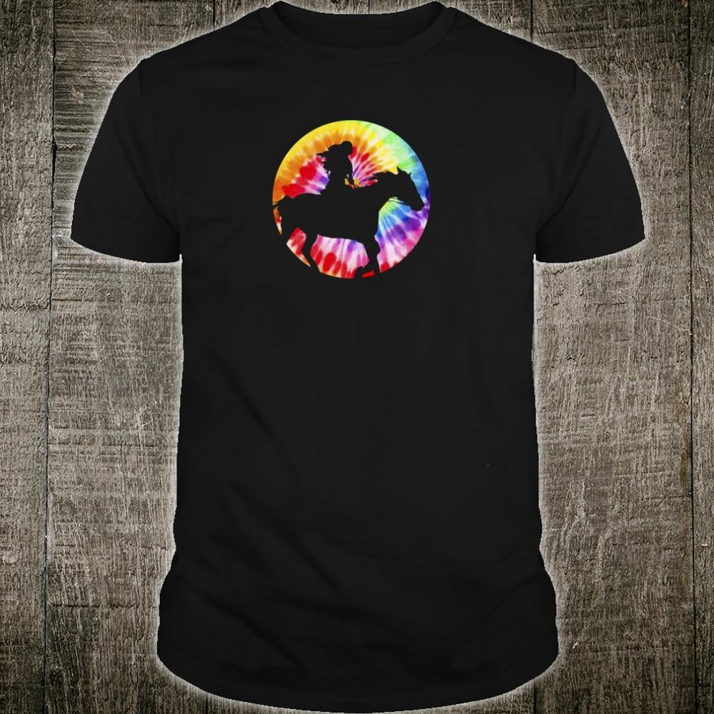 Funny Tie Dyed Horsey Horse Horseback Rider Design Shirt