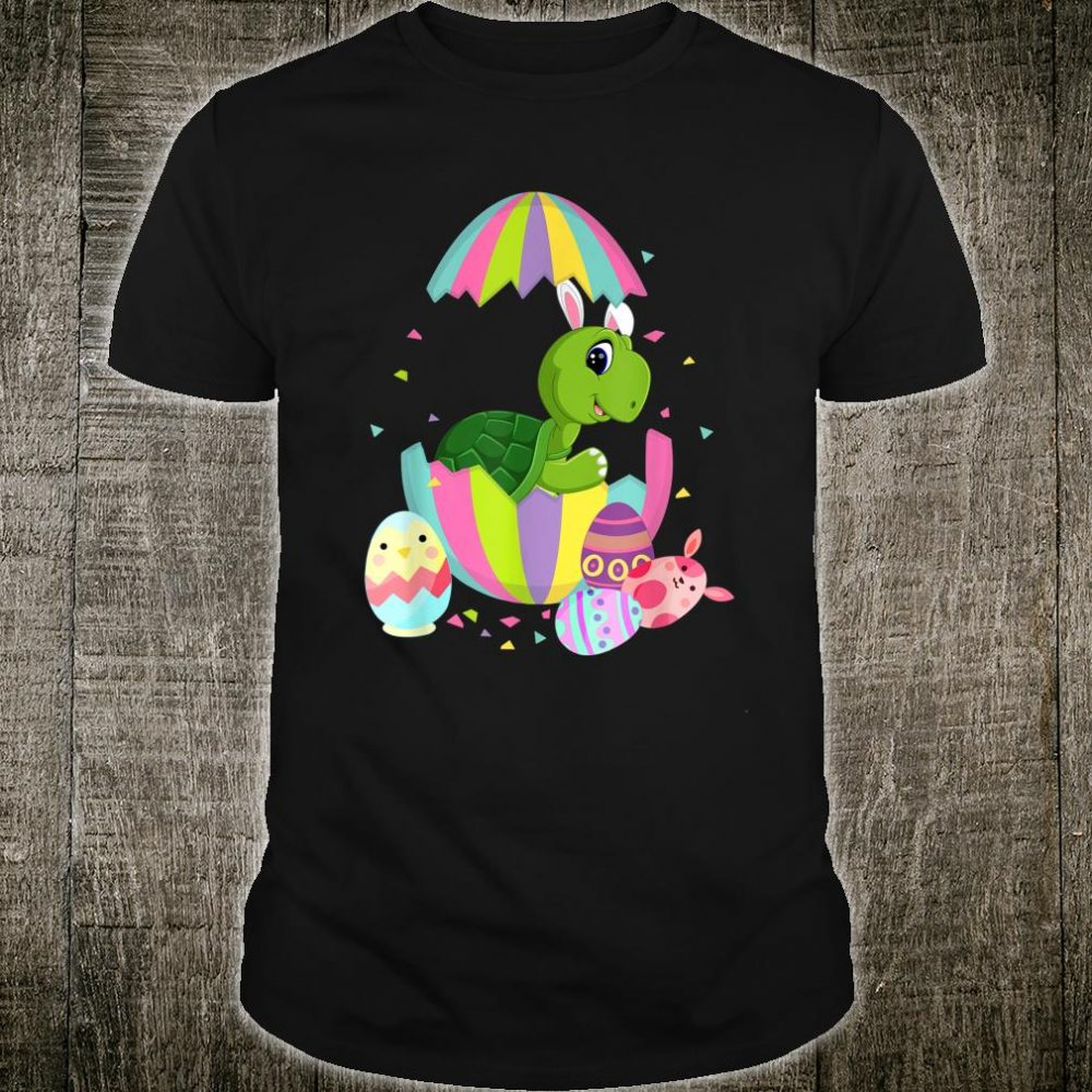 Funny Turtle Easter Egg Bunny Easter Bunny Turtle Shirt