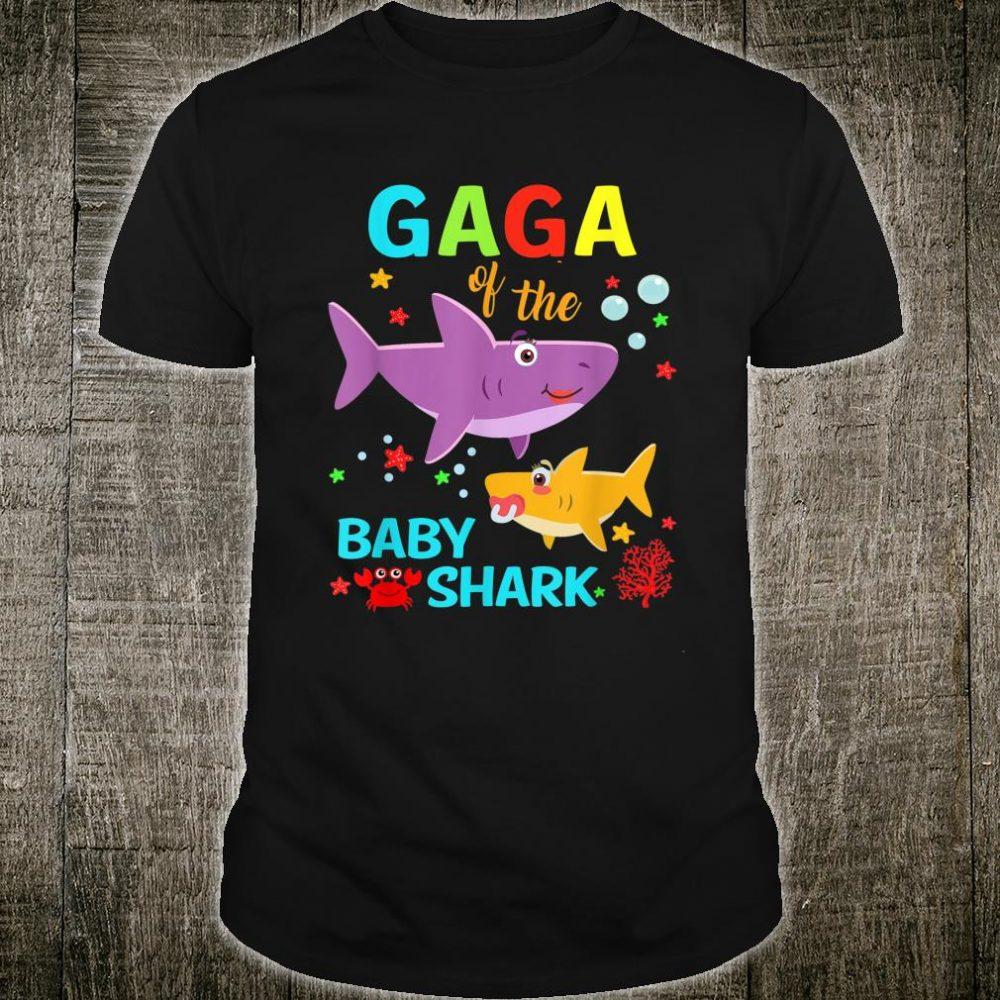 Gaga Of The Baby Shark Birthday Gaga Shark Shirt