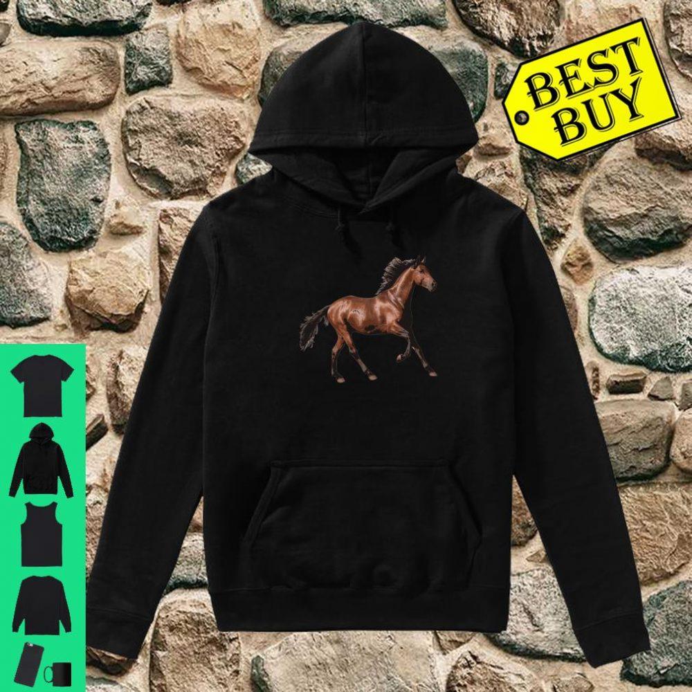 Galloping Brown Horse Shirt hoodie