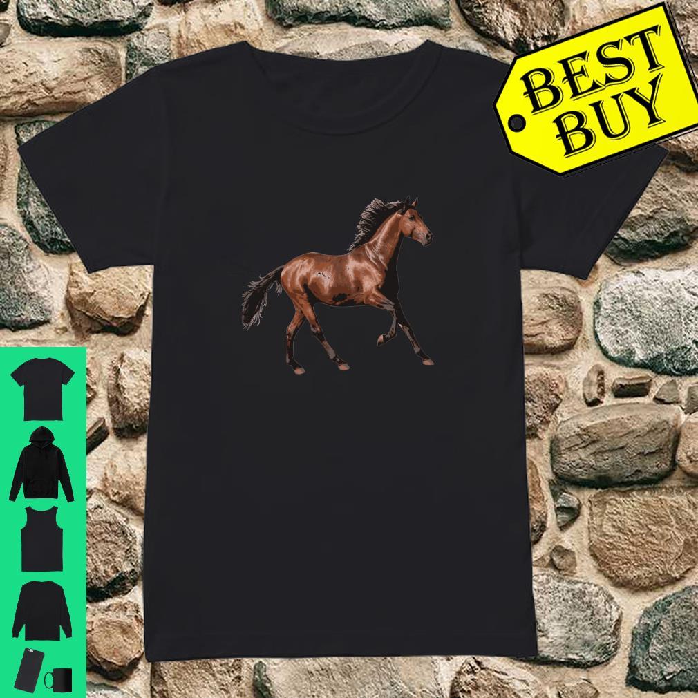 Galloping Brown Horse Shirt ladies tee
