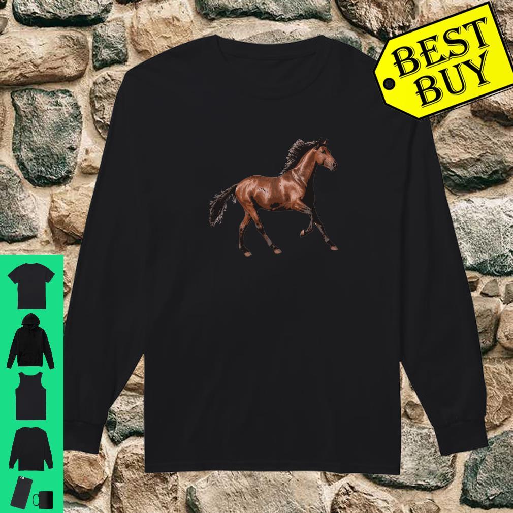 Galloping Brown Horse Shirt long sleeved