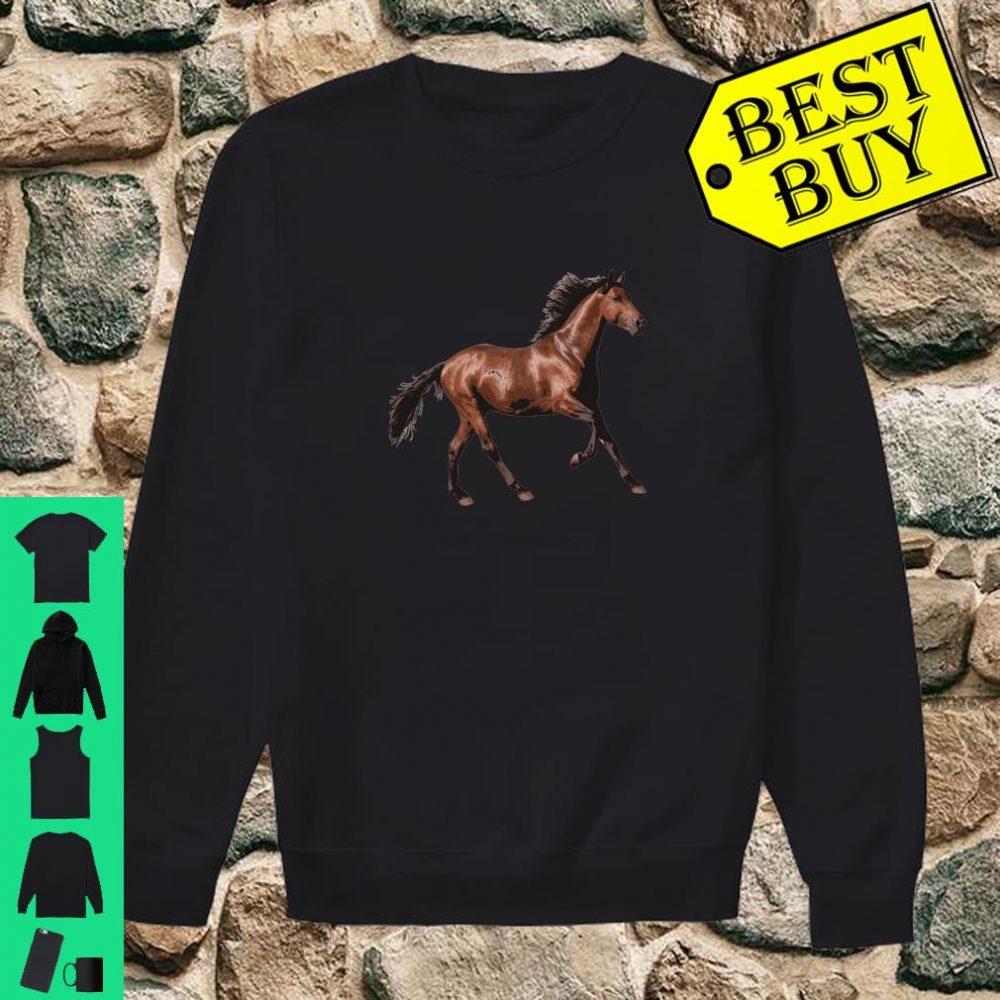 Galloping Brown Horse Shirt sweater