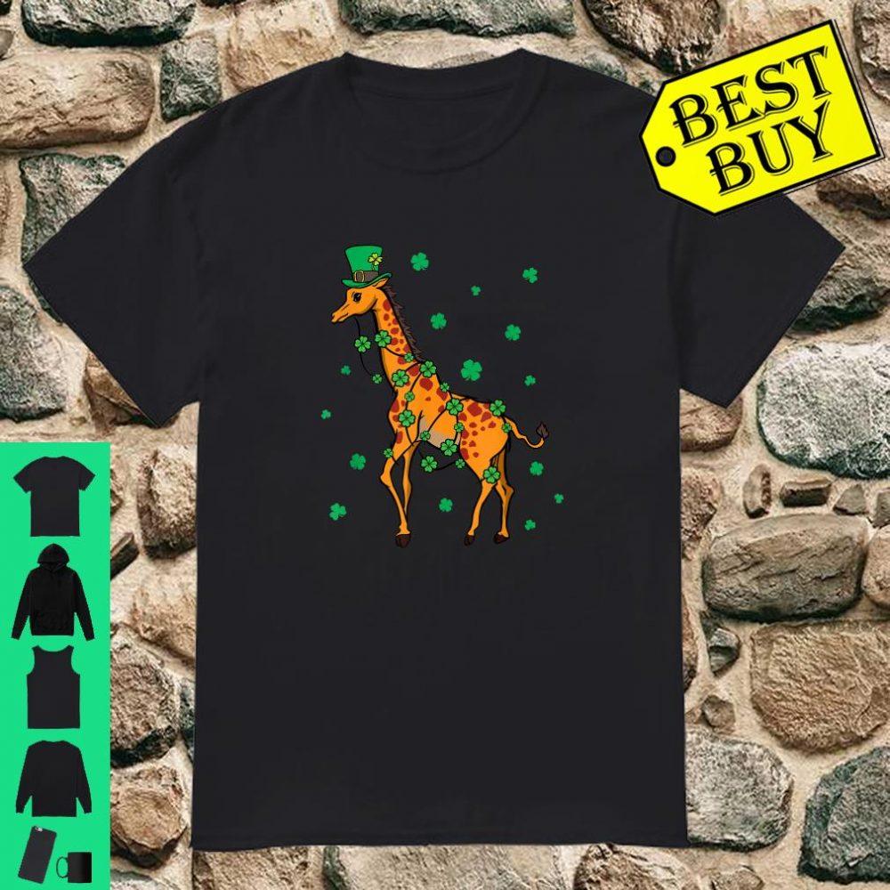 Giraffe Leprechaun St Patrick's Day Giraffe Shirt