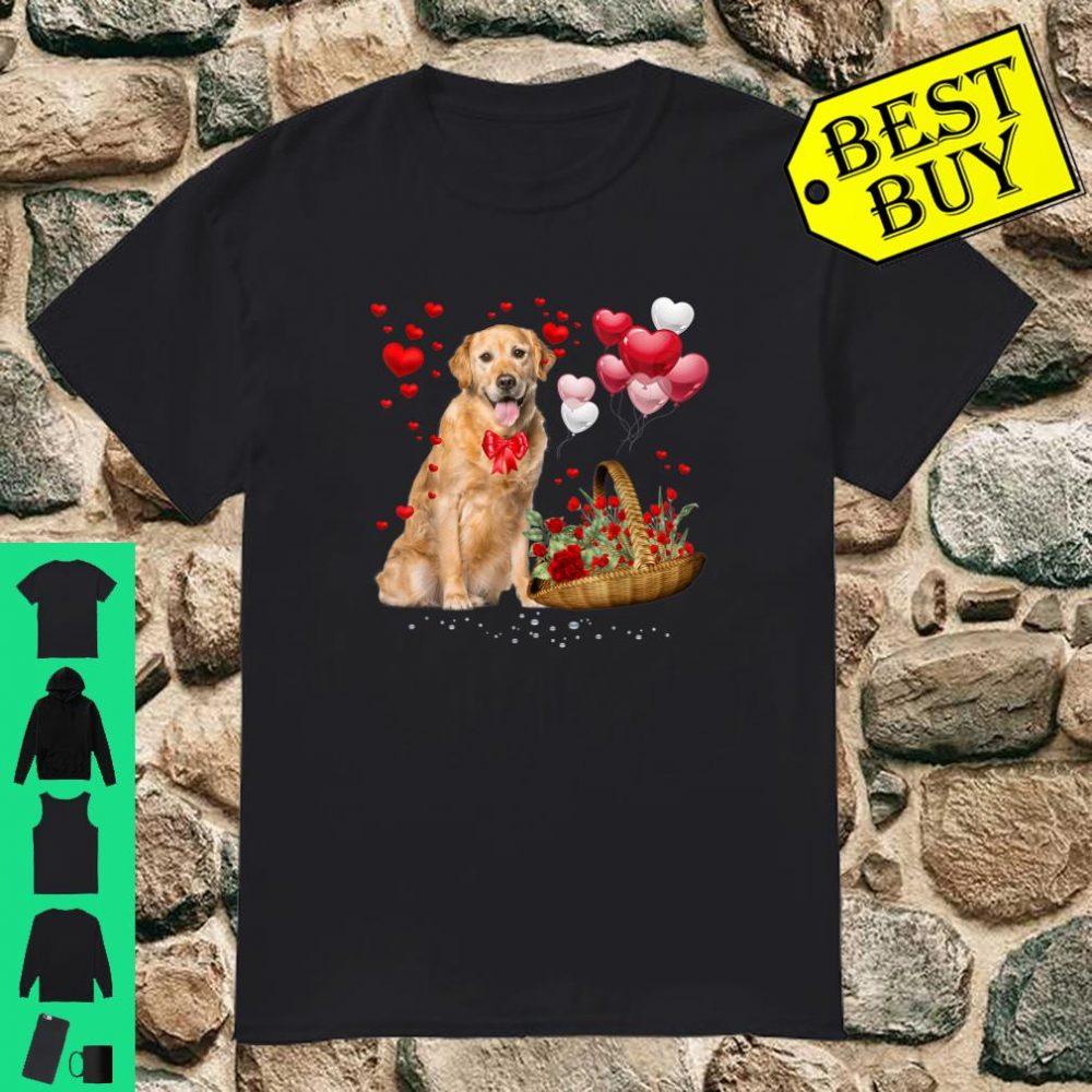 Golden Retriever Valentines Day Dog Valentine Shirt