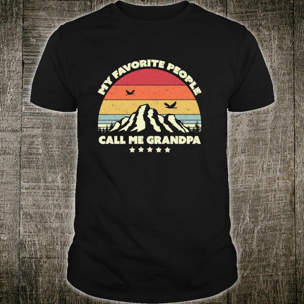 Grandad. My Favorite People Call Me Grandpa, Retro Shirt