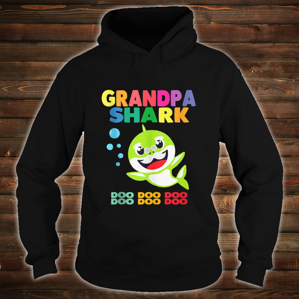 Grandpa Shark Doo Doo Doo Family Shirt Cute Shirt hoodie
