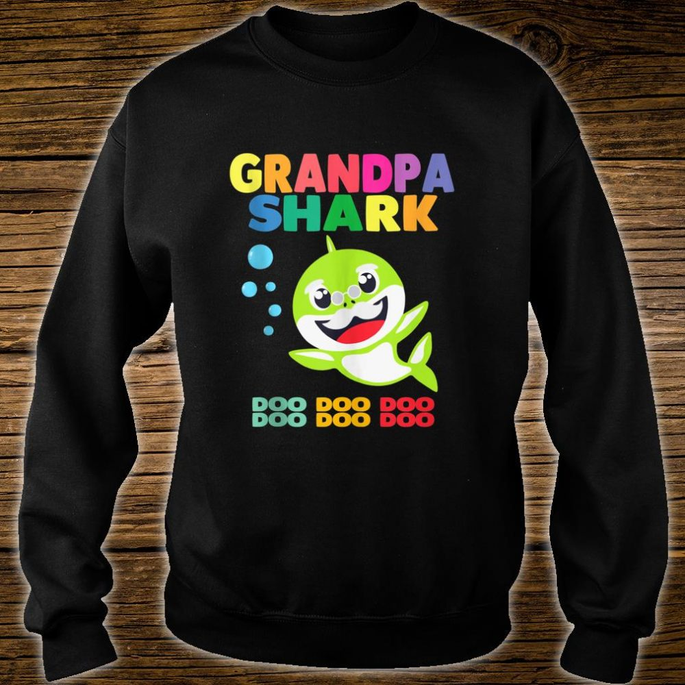 Grandpa Shark Doo Doo Doo Family Shirt Cute Shirt sweater