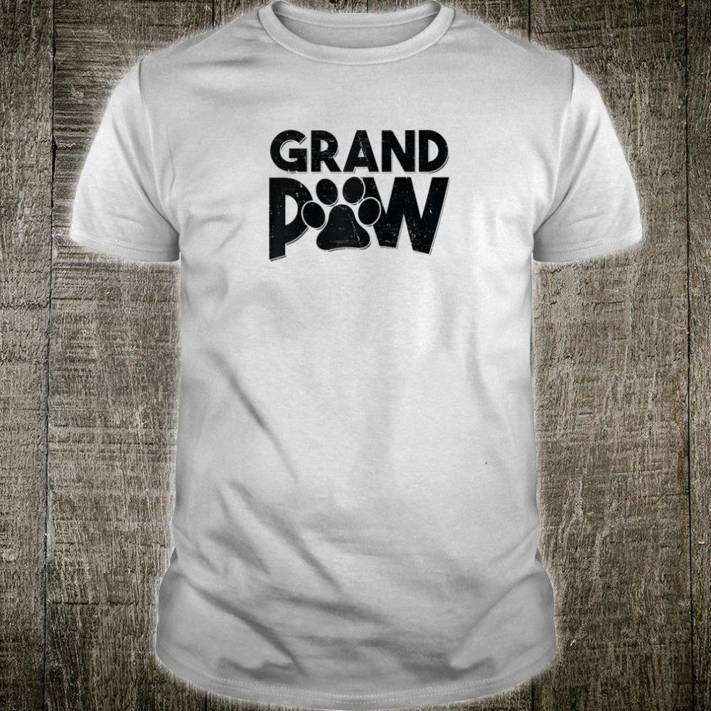 Grandpaw Dog Grandpa Shirt Grand Paw Dad Father Shirt