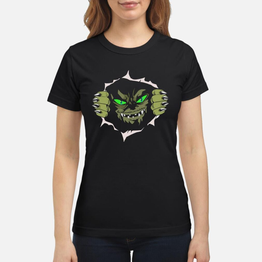 Green Eyed Monster Tearing Itself Out of Your Chest shirt ladies tee