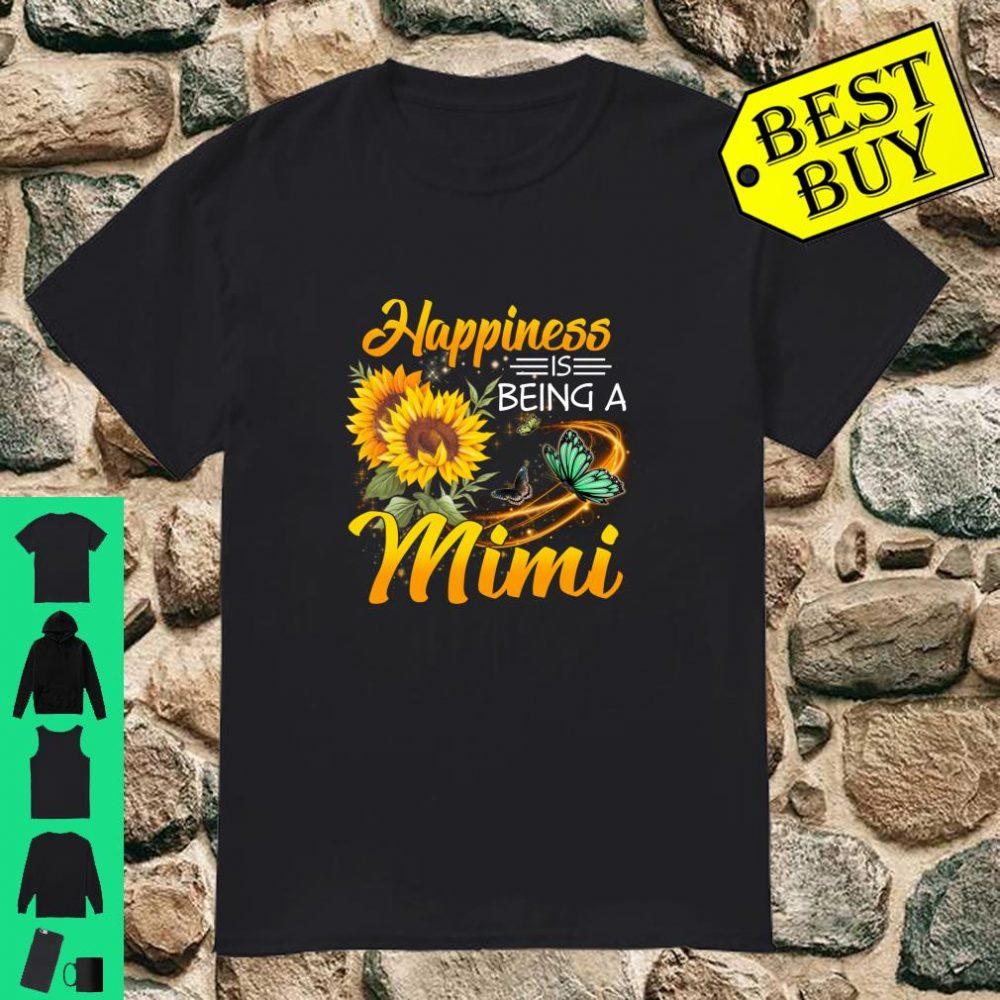 Happiness Is Being A Mimi Sunflower Butterflies Costume Gift shirt