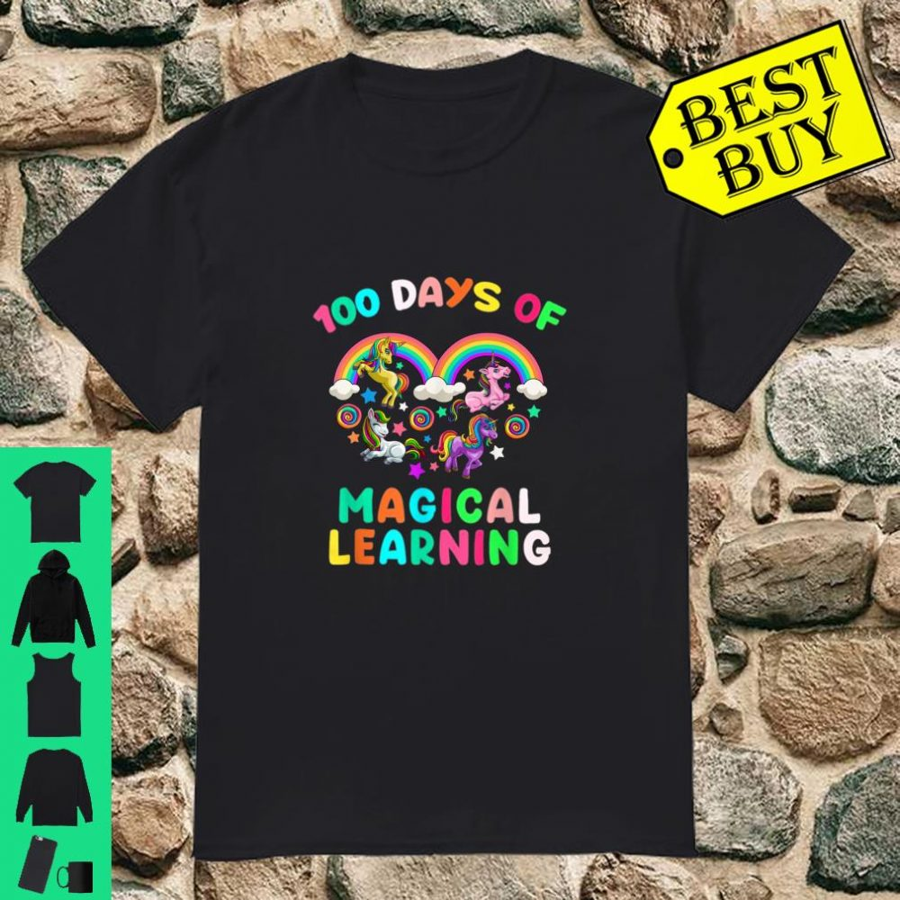 Happy 100 Days of School Magical Learning Pre K Teacher Shirt