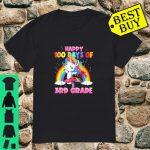 Happy 100th Day of 3rd Grade 100 Days School Unicorn shirt