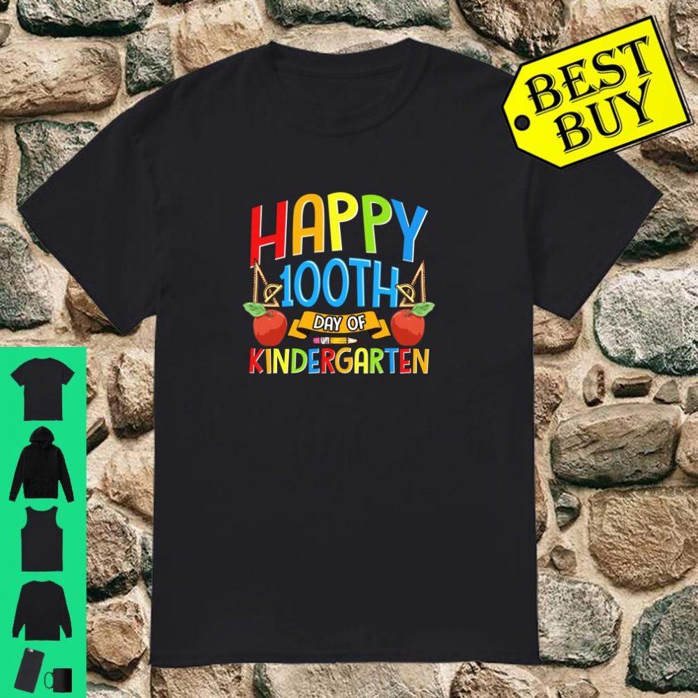 Happy 100th Day of Kindergarten for Teacher or Child Gift Shirt