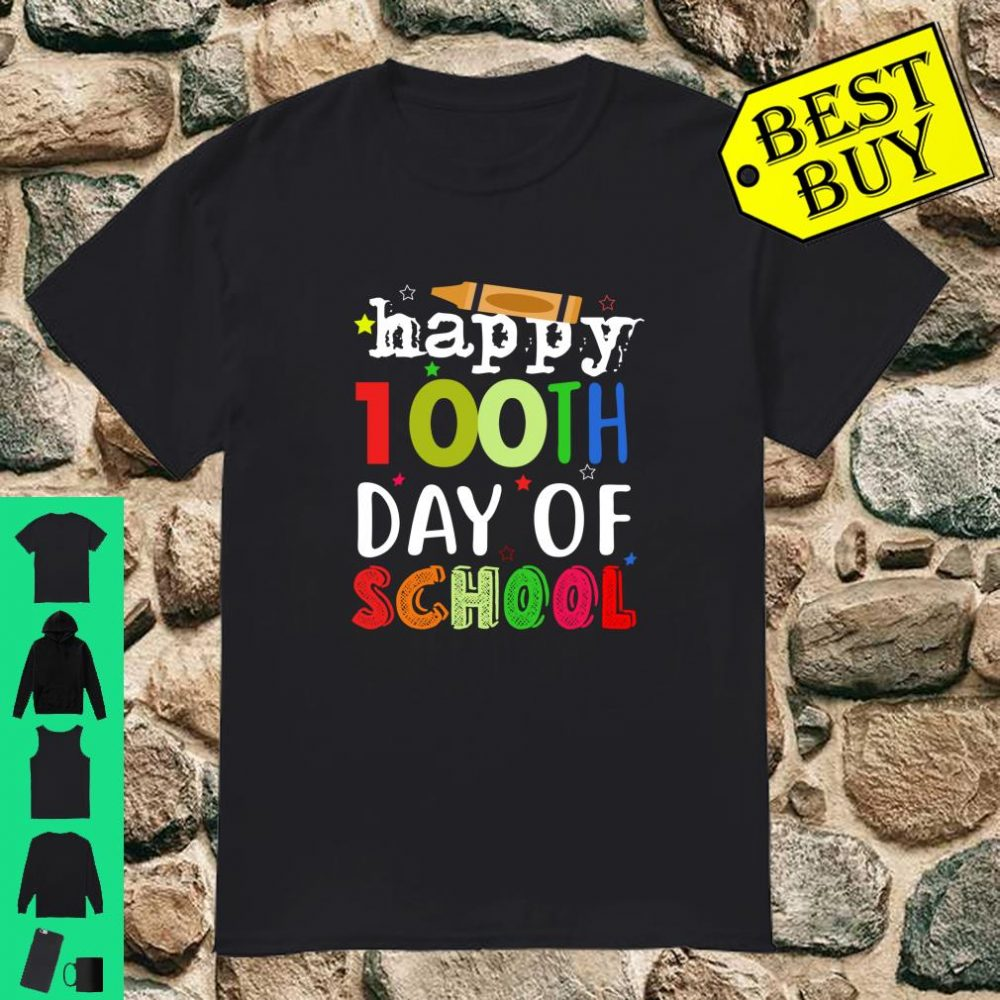 Happy 100th Day of School For Teacher & Student Kid Gift Shirt