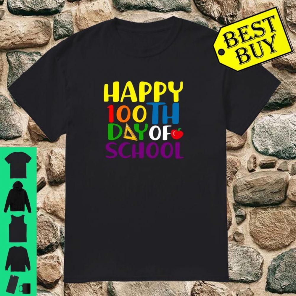 Happy 100th Day of School Teacher Student Shirt