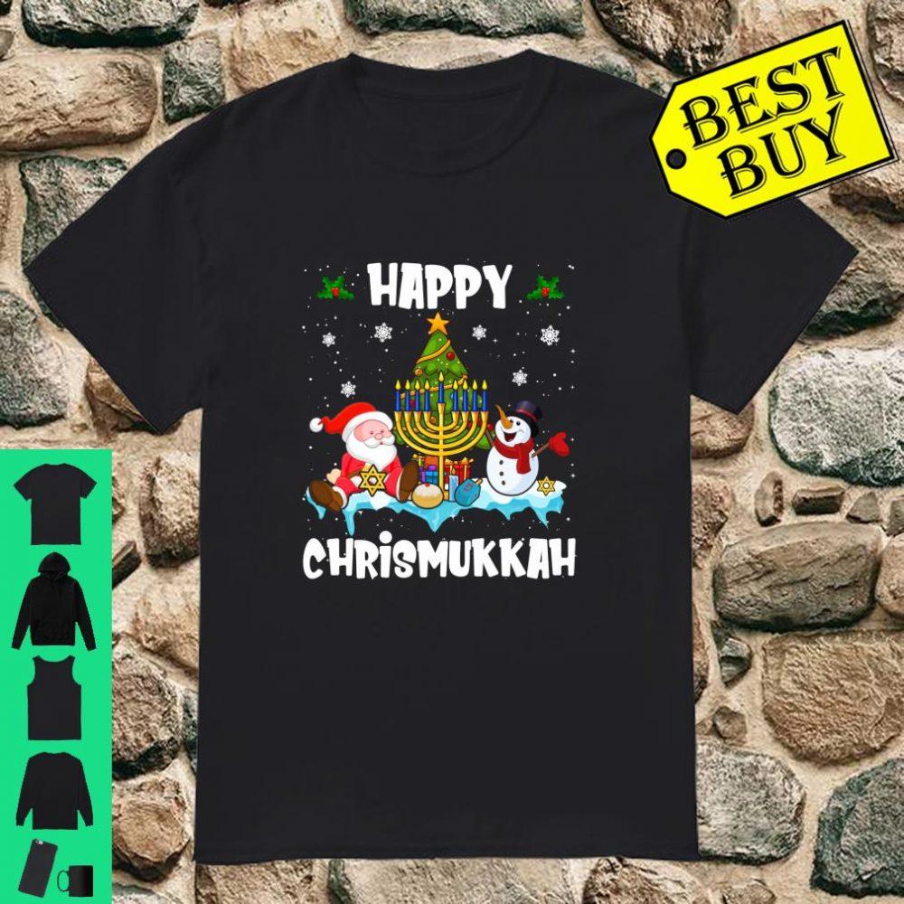 Happy Chrismukkah Christmas Hanukkah Jewish Gifts Langarm Shirt