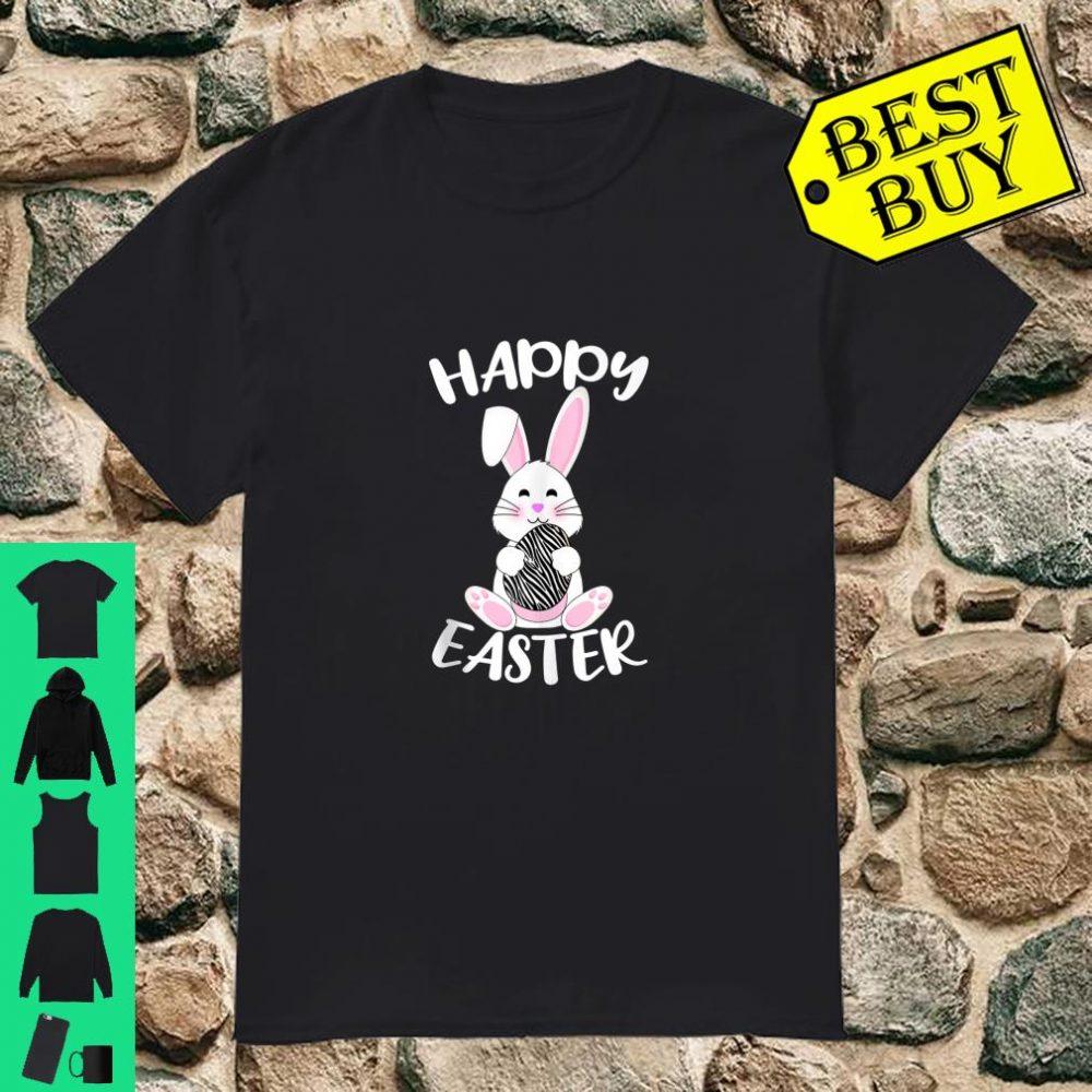 Happy Easter Bunny Zebra print Easter egg Bunny adult Shirt