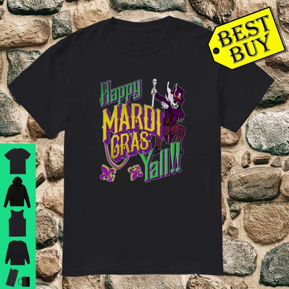 Happy Mardi Gras Yall Dabbing Voodoo King Costume Shirt