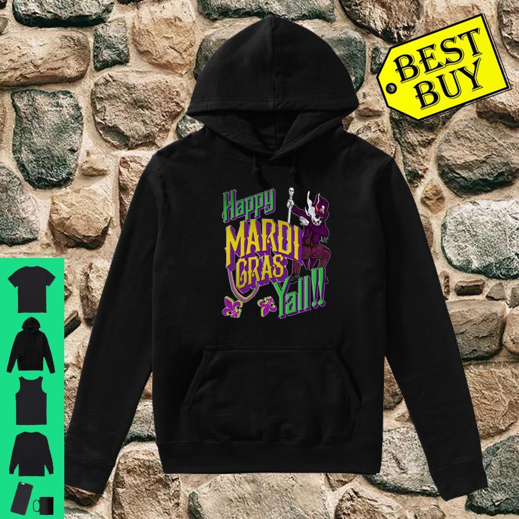 Happy Mardi Gras Yall Dabbing Voodoo King Costume Shirt hoodie