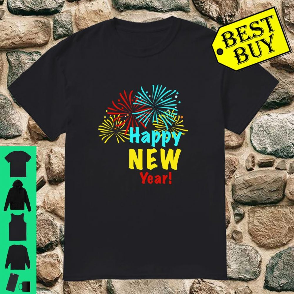 Happy New Year 2020 New Year's Eve Fireworks Celebration shirt