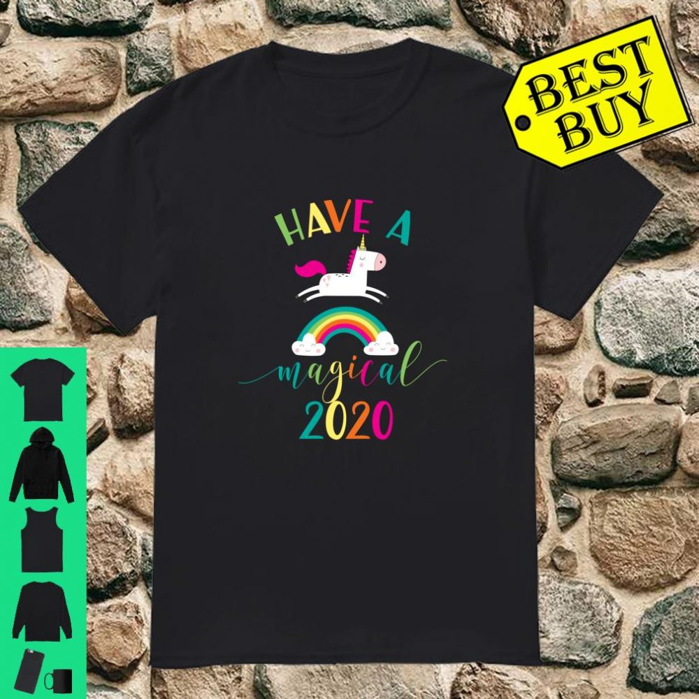 Happy New Year 2020 Unicorn Have a Magical Rainbow Party Eve Shirt