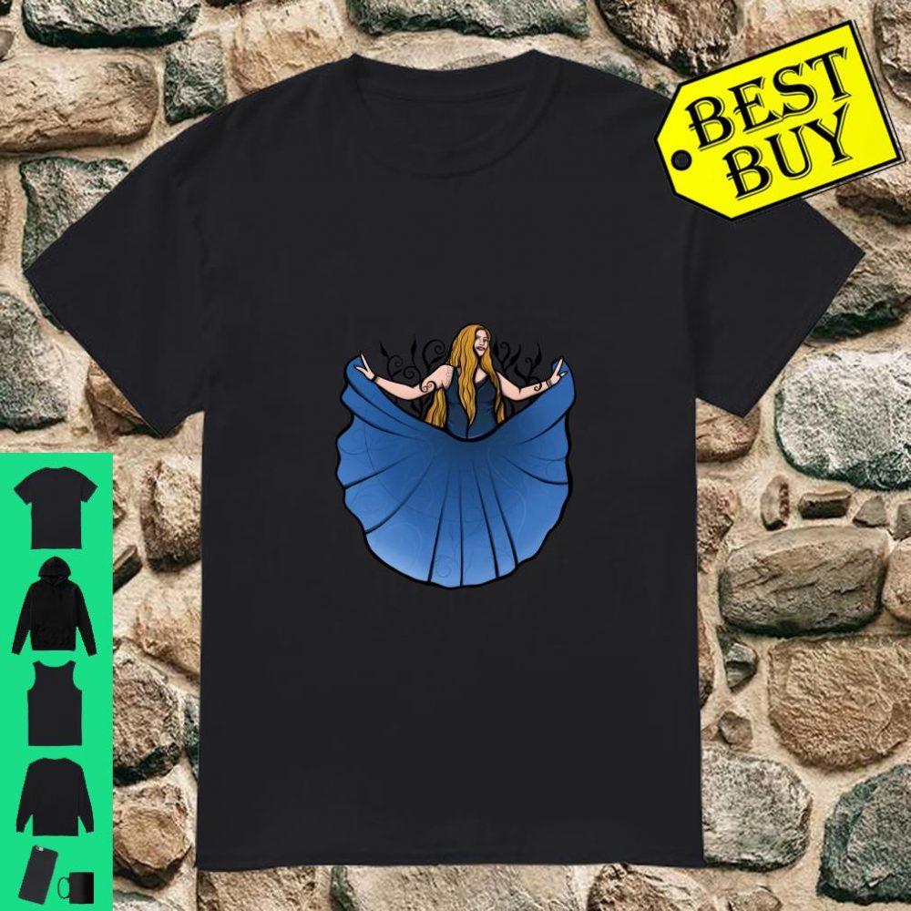 Harmony Blue Belly Dancer Shirt