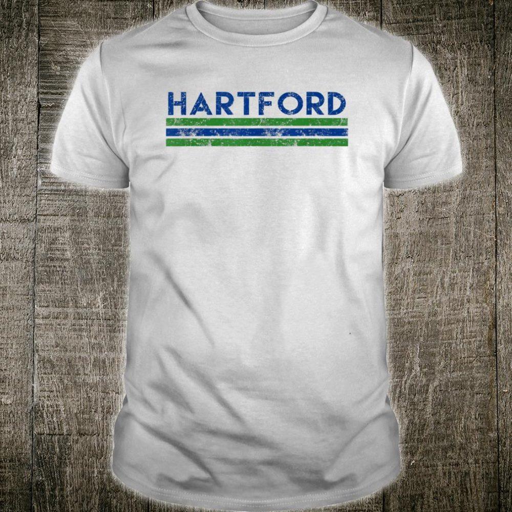 Hartford Connecticut Retro Vintage Weathered Shirt