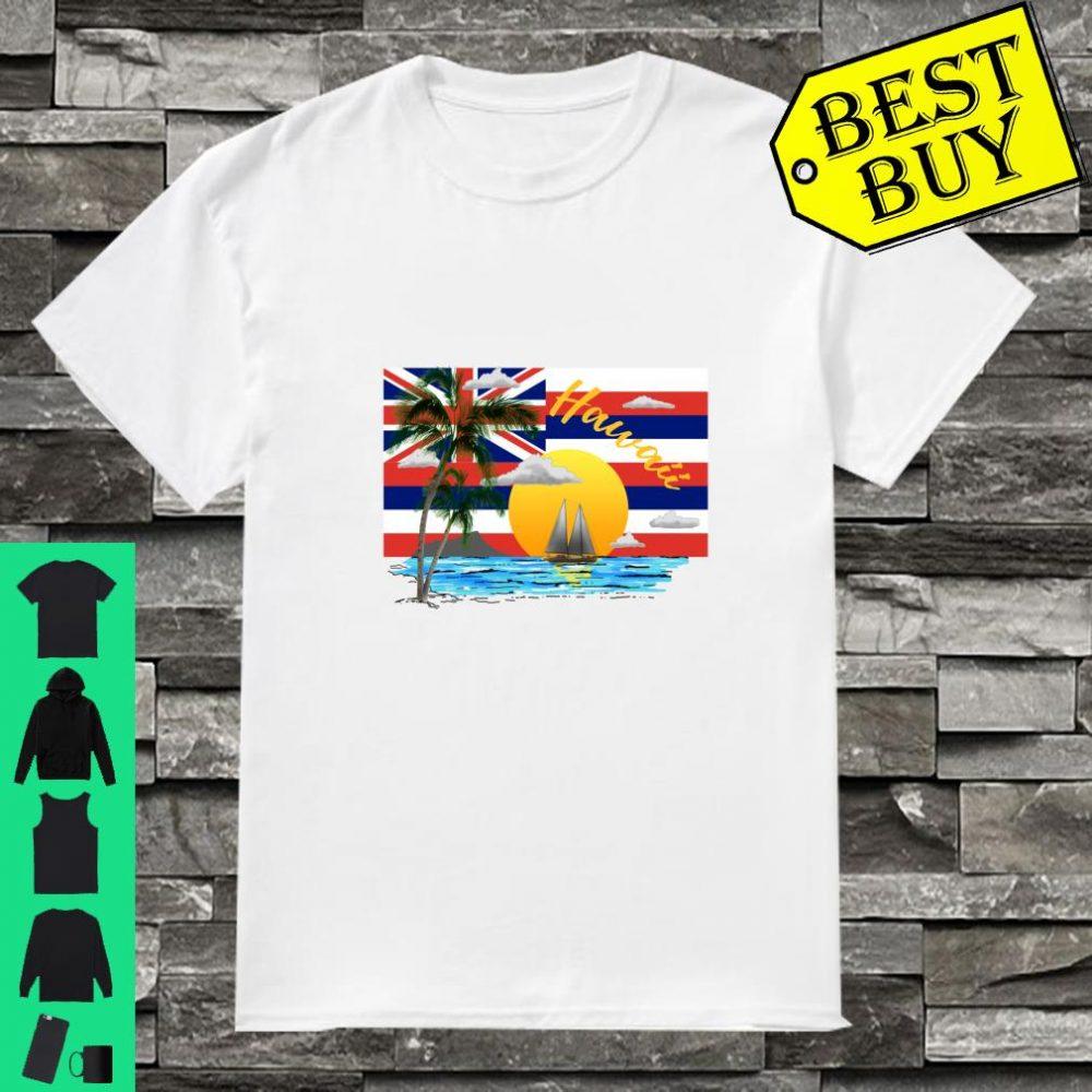 Hawaiian Islands State Flag Beach Sunset Shirt