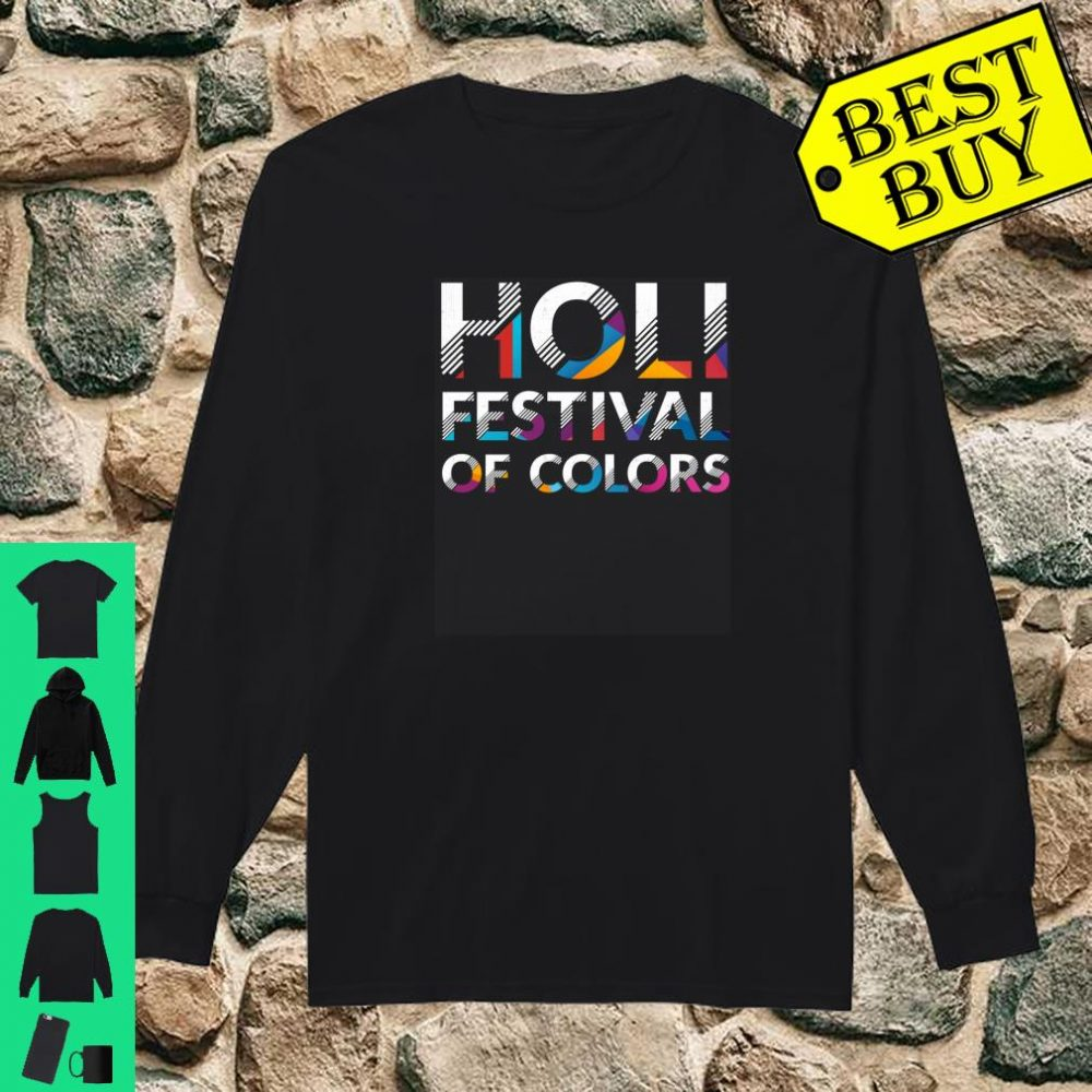 Holi Festival Of Colors Indian Hindu Spring London Party Shirt long sleeved