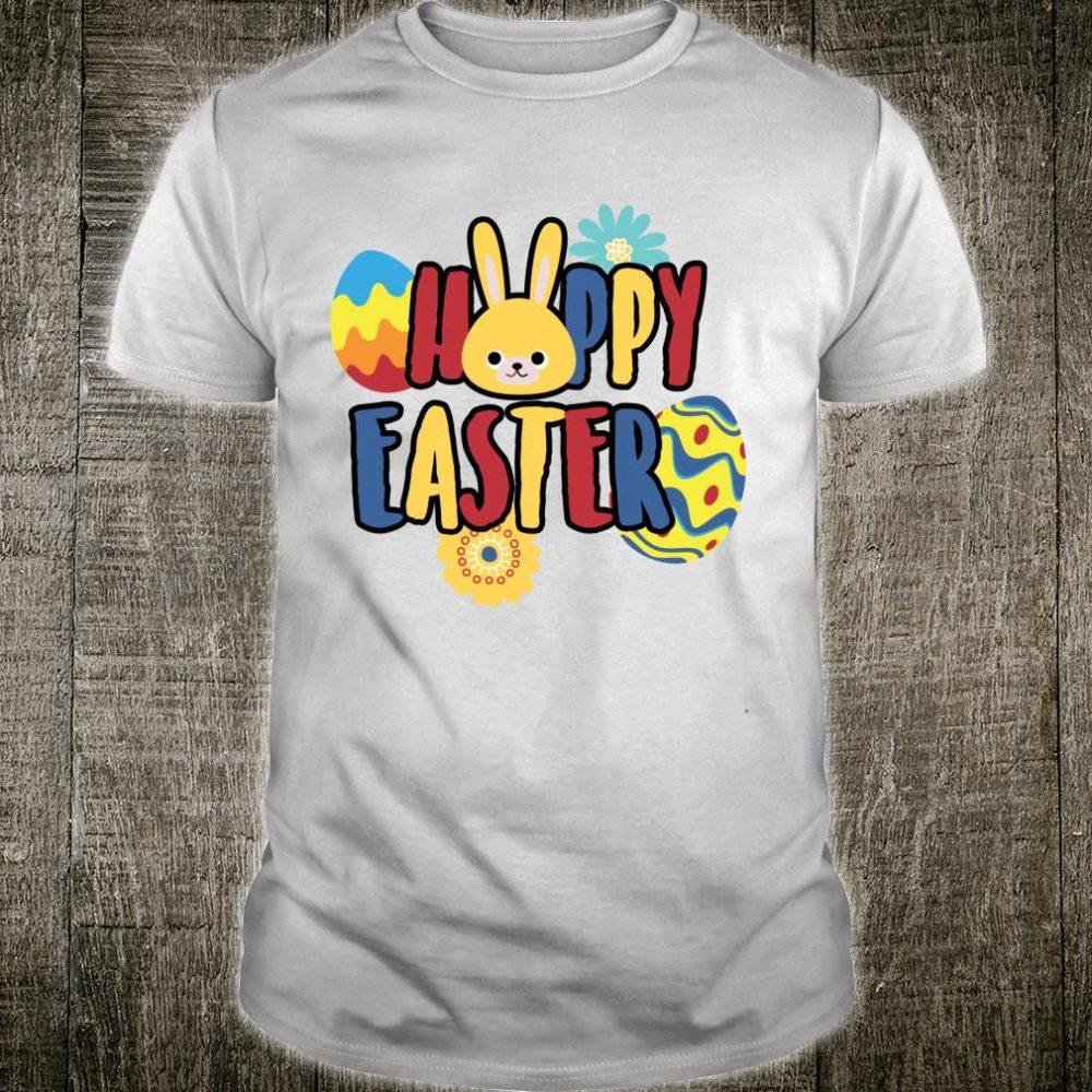Hoppy Easter Bunny Rabbit Cute Boys Girls Egg Hunt Shirt