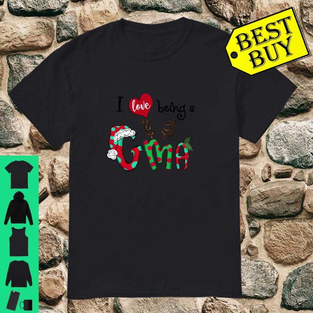 I Love Being A GMA Reindeer Christmas Grandma gifts shirt