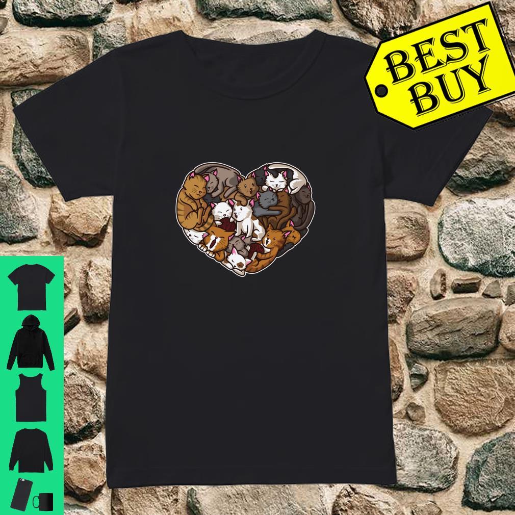 I Love Kittens Heart Full Of Cats Cute Feline shirt ladies tee