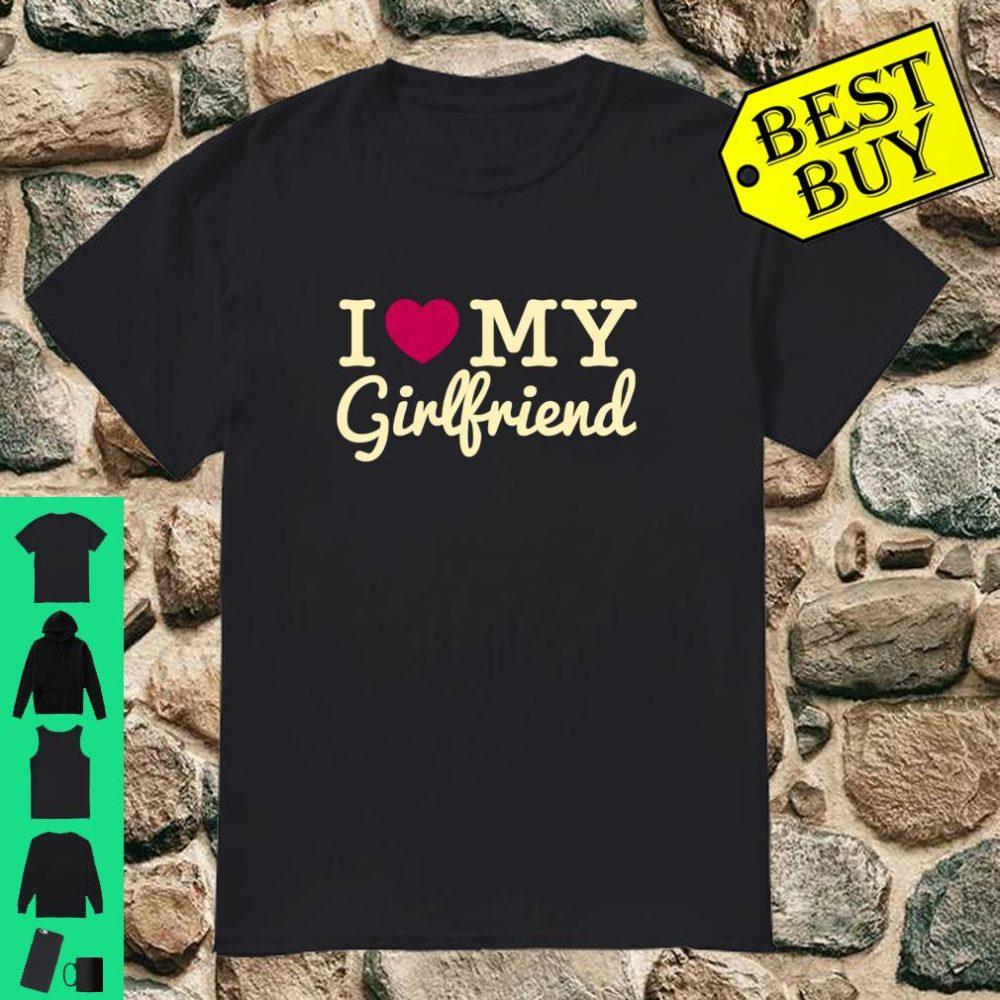 I Love My Girl Cute Friend Valentines Day shirt