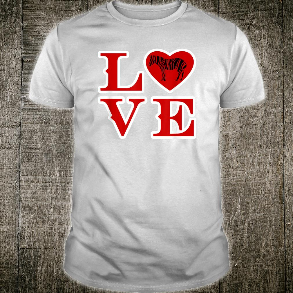 I Love Heart Zebras Sweatshirt