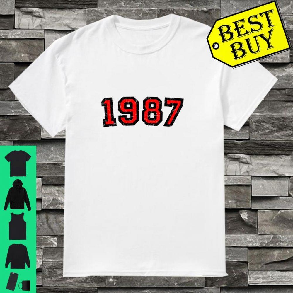Jahr 1987 (Vintage SchwarzRot) 33. Geburtstag Langarm Shirt