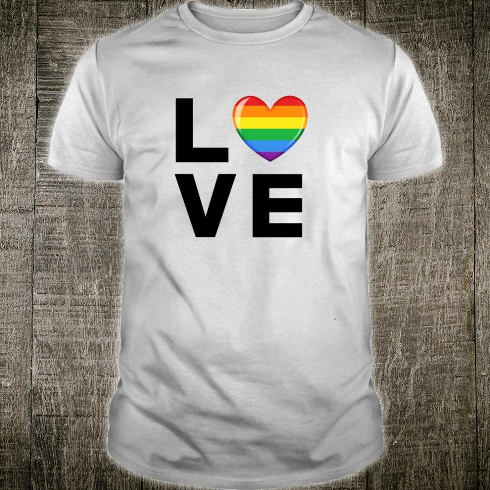 LGBT Love Rainbow Heart Gay Pride Shirt