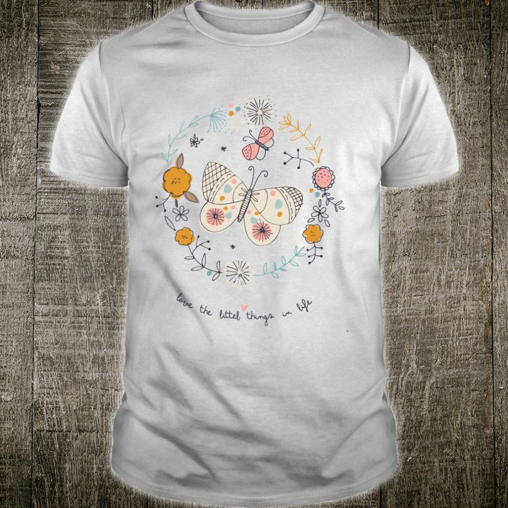 Love The Little Things in Life Vintage Birthday Retro Shirt
