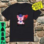 Love me like I'm bacon valentine pig gift Shirt