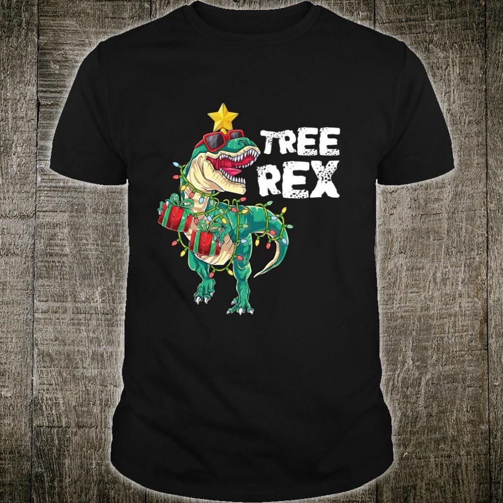 Lustiges Tree Rex Weihnachten TRex Dinosaurier Dino Shirt